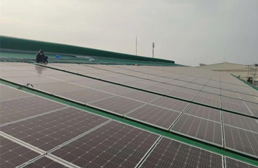 311KW Metal Sheet Rooftop PV Power Station in 2020, Long An, Vietnam
